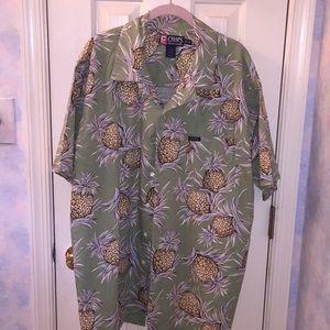 Chaps Ralph Lauren XL Camp Shirt VTG
